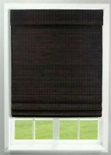 Radiance 36 in. x 64 in. Cordless Interior Roman Shade Weave Bamboo Espresso