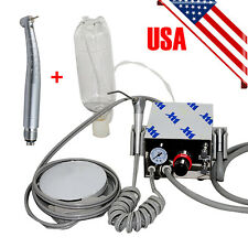 Usa Dental Air Turbine Unit Work W Compressor 4 Hole Led High Speed Handpiece