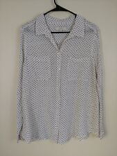 Ann Taylor LOFT Blouse Long Sleeve Dotted Print Size XL extra large