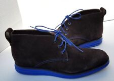 Donald J Pliner Suede Brown Blue EYES Chukka Ankle Shoes Boots Lace Up Mens 11