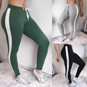 Women Elastic Waist Leggings Sport Gym Fitness Trousers Casual Skinny Pants