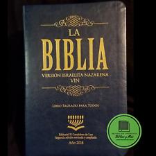 Biblia Version Israelita Nazarena Letra Grande  Edicion 2018 AZUL Tora Español