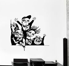 Wall Sticker Vinyl Decal Banda Monsters Scary Skeletons Funny Party (ed454)