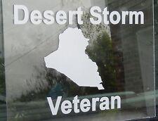 Patriotic Military Desert Storm Veteran Soldier White Oracal Vinyl Decal Sticker