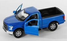 BLITZ VERSAND Ford F-150 Regular Cab 2015 blau met. Welly Modell Auto 1:34 NEU