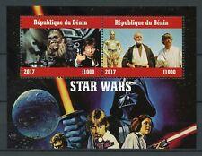 Benin 2017 CTO Star Wars C3PO Han Solo Chewbacca Darth Vader 2v M/S Stamps