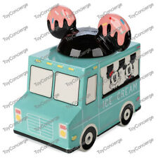 Disney Store Disney Eats Ice Cream Truck Cookie Jar - Mickey & Minnie New