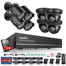 SANNCE 8CH 1080N HDMI DVR 720P IR Cut CCTV Video Home Security Camera System 1TB