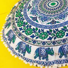 "34"" Indian Mandala Round Floor Cushion Cover Yoga Pillow Boho Decor Meditation"
