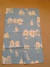 New Pale Blue Boats & BeachHuts Tea towel
