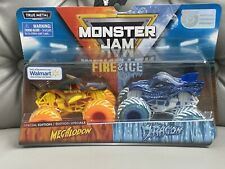 "MONSTER JAM FIRE & ICE ""MEGALODON VS DRAGON"" SPECIAL EDITION- WALMART EXCLUSIVE"