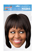 Michelle Obama Face Party Mask Card A4 Fancy Dress Ladies Mens Kids USA Lady