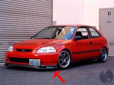 For Honda 96-98 EK Civic Spoon Carbon Fiber Front Bumper Under Lip Splitter Wing