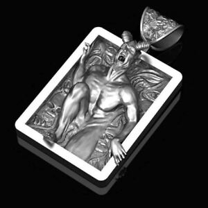 Anhänger Baphomet in 3D Satan Luzifer Occult Teufel Satanist Dämon Gothic NA37