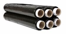 6 Rollen Strechfolie, 23 My, 500mm x 1,5 kg Stretchfolie Palettenfolie Schwarz!