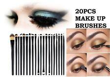 20 Pennelli Make-up Set degli occhi Fondazione Ombretto Eyeliner Mascara per sopracciglia