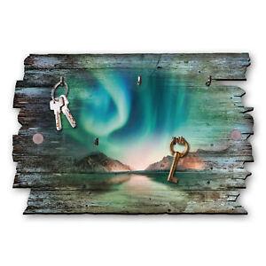 Nordlichter Schlüsselbrett Hakenleiste Landhaus Shabby chic aus Holz 30x20cm