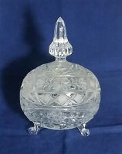 Beautiful Heavily Cut Glass Crystal Candy Bowl