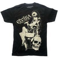 Kreepsville 666 Elvira Mistress of the Dark Comic Skull Goth Punk T Shirt MTJECS
