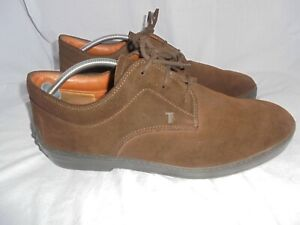TOD'S MEN BROWN SUEDE LEATHER LACE UP SHOE SIZE UK 8.5 EU 42.5 VGC
