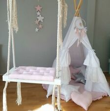 Babyuniquecorn Handmade en Bois Indoor Swing Rose