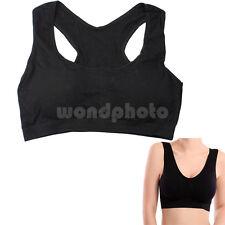 Sexy Bra Sujetador Deportivo Chaleco Color Negro para Deporte Yoga Mujer Chica