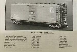 Sunshine Models kit U3.1 Kansas City Southern 15500-series boxcar