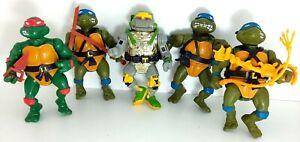 TMNT 1988-1990 Mirage Studios Playmates Figures EXCELLENT VINTAGE 5x lot