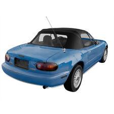 Mazda Miata Convertible Top with Plastic Window, Fits 1990-2005, Black