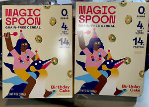 Lot Of 2 Boxes Magic Spoon Cereal Keto Low Carb Protein- BIRTHDAY CAKE