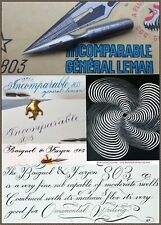 May 5th-20 % off! 12 vintage Baignol & Farjon no.803 Inc. General Leman nibs
