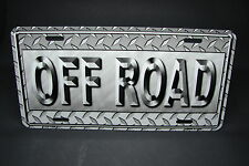 OFF ROAD METAL ALUMINUM CAR LICENSE PLATE TAG 4X4