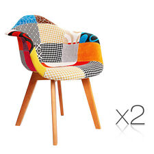 Replica Eames Fabric Armchairs (Set of 2)