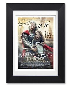 THOR THE DARK WORLD MOVIE CAST SIGNED POSTER PRINT PHOTO AUTOGRAPH FILM GIFT