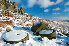 Picture Postcard_ Stanage Edge, Near Hathersage, Millstones In The Snow