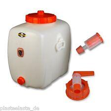 1 St Speidel Mostfass 30 Liter rund Zubehör Gärspund Metallhahn Verschlusskappe