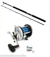 Boat Fishing Combo Rod & Reel Abu Garcia GT 30 Boat Rod & JD500 multiplier reel