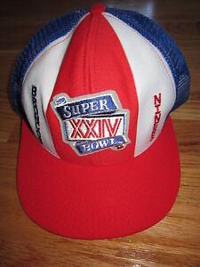 SUPER BOWL XXIV DENVER BRONCOS vs SAN FRANCISCO 49ers Snap Adjustable Mesh Cap