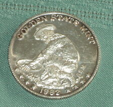 """ONE TROY OUNCE .999 FINE SILVER 1982 ROUND COMMERATING """"THE AMERICAN PROSPECTOR"""""""