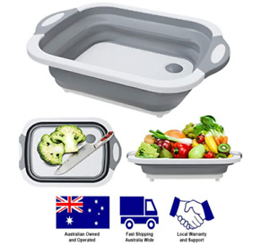 Chopping board and sink for camping or fishing collapsible multipurpose design