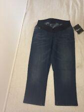 Onyx by Destination Maternity Womens Indigo Denim Capri Jeans Size M - NWT