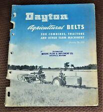VTG 1947 Dayton Rubber Agricultural Belts Catalog 325