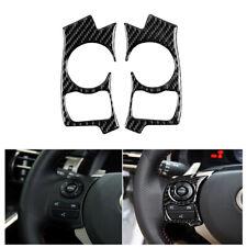 Fit For LEXUS IS250/300/350/200T 2014-17 Carbon Fiber Steering Wheel Button Trim