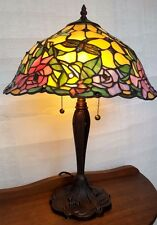 Peony Table Lamp - Tiffany Style Handcrafted Leadlight Lamp - New