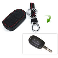 Car Smart Key Leather 2 Button Fob Case Cover For Renault Duster Dacia 2016-2017