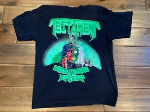 Testament Greenhouse Effect Tour Tee Shirt T-Shirt Black Medium Vintage 1989