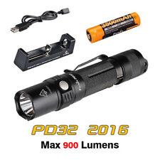 Fenix PD32 2016 Cree XP-L HI LED Pocket Flashlight Torch+3500mAh Battery+Charger