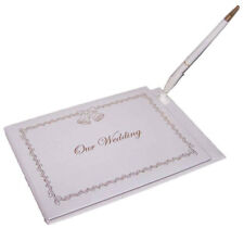 """""""Our Wedding"""" Guest Book &  Pen Sets  (GB7117 ^*)"""