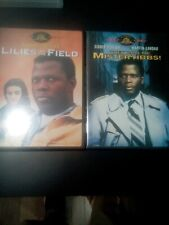 2 Sidney Poitier DVD Movies Lilies Of The Field + They Call Me Mister Tibbs!