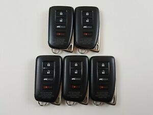 ORIGINAL LOT OF 5 LEXUS NX LX 15-20 OEM FOB SMART KEY LESS ENTRY REMOTE SUV BULK